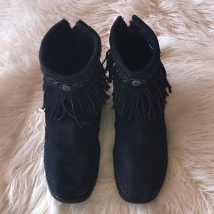 Minnetonka Suede Booties 9""